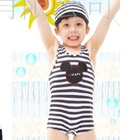 ชุดว่ายน้ำกางเกงหมีน้อยน่ารักสีดำ(5size/pack)
