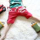 กางเกงขาสั้น-12-TRACK-สีแดง-(4-ตัว/pack)