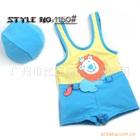 ชุดว่ายน้ำกางเกงสิงโตน่ารักสีเหลืองฟ้า(5size/pack)