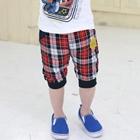 กางเกงขาสั้น-Say-hi-ลายสก๊อตสีดำแดง-(5-ตัว/pack)