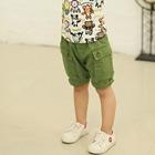กางเกงขาสั้นกระเป๋าใหญ่-สีเขียว-(5-ตัว/pack)