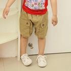 กางเกงขาสั้นกระเป๋าใหญ่-สีกากี-(5-ตัว/pack)