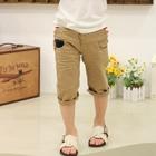 กางเกงขายาวสามส่วนลายไขว้-สีกากี-(5-ตัว/pack)