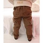 กางเกงขายาวหนุ่มตี๋เกาหลี-สีน้ำตาล--(4-ตัว/pack)