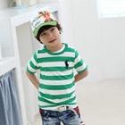เสื้อแขนสั้น-POLO-STRIP-สีเขียว-(5-ตัว/pack)