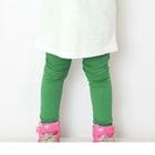 กางเกงเลกกิ้งจี๊ดจ๊าด-สีเขียวเข้ม--(5-ตัว-/pack)