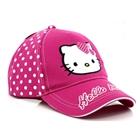 หมวกแก้ป-Hello-Kitty-ลายจุด-สีชมพูเข้ม-(10ใบ/แพ็ค)