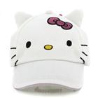 หมวกแก้ป-ลาย-Hello-Kitty-มีหู-สีขาว-(10ใบ/แพ็ค)