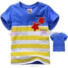 เสื้อแขนสั้นดาวคู่-สีฟ้า-(5size/pack)