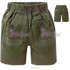 กางเกงขาสั้นโชว์ตะเข็บ-สีเขียวขี้ม้า-(5size/pack)