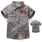 เสื้อเชิ้ตซาฟารี-สีกากี-(5size/pack)