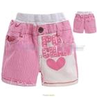 กางเกงขาสั้นลายทาง-POI-CHAMP-สีชมพู-(5size/pack)