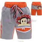 กางเกงขาสั้น-Paul-ปากกว้าง-สีเทาส้ม-(5size/pack)