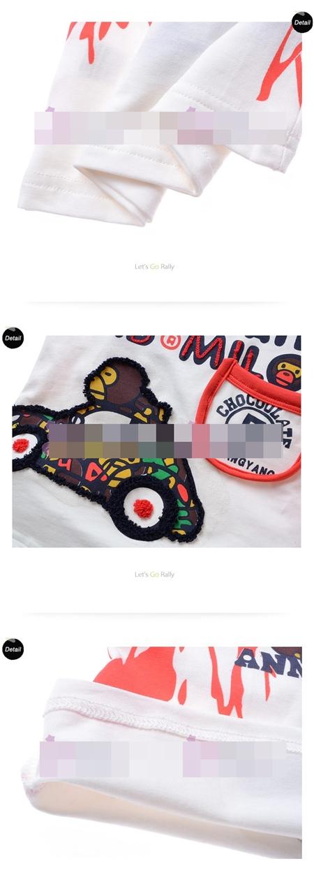 เสื้อแขนสั้น Choclolate Milo สีขาว (5size/pack)