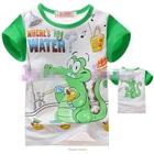 เสื้อแขนสั้นจระเข้เล่นน้ำ-สีเขียว-(4size/pack)