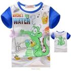 เสื้อแขนสั้นจระเข้เล่นน้ำ-สีน้ำเงิน-(4size/pack)