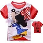 เสื้อแขนสั้น-Minnie-โบว์แดง-(6size/pack)