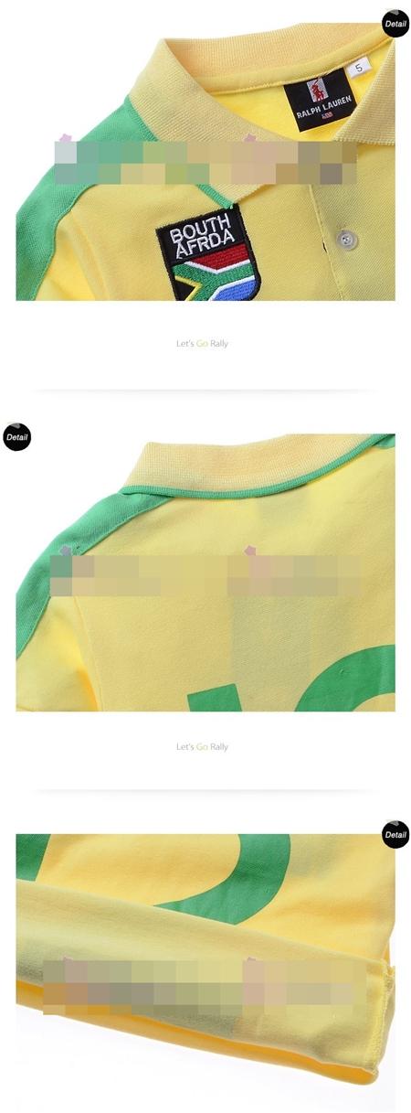 เสื้อโปโล BOUTH AFRDA สีเหลือง (5size/pack)