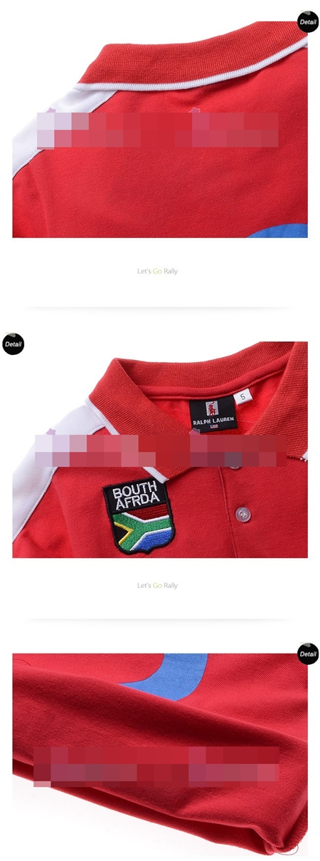 เสื้อโปโล BOUTH AFRDA สีแดง (5size/pack)