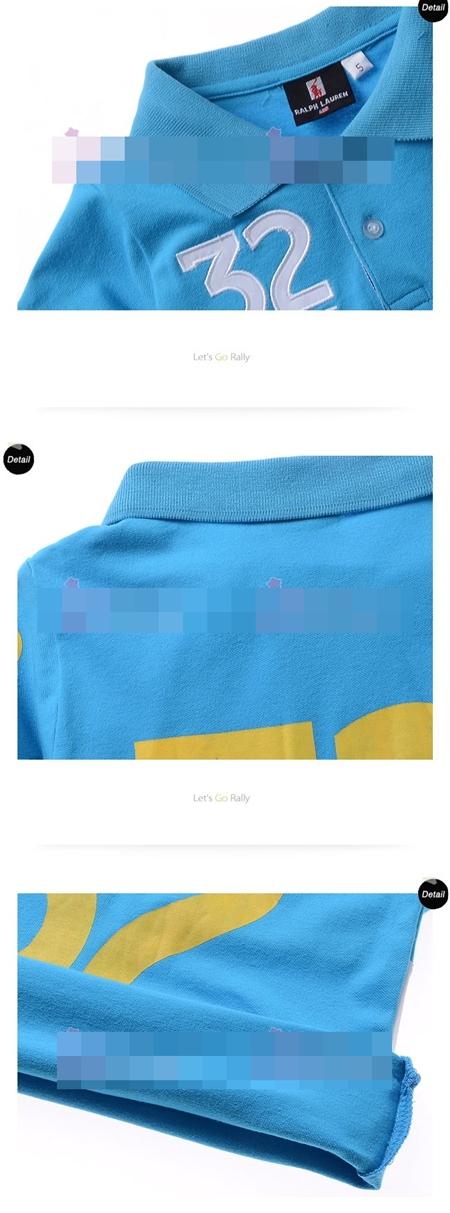 เสื้อโปโล 32 SUISSE สีฟ้า (5size/pack)