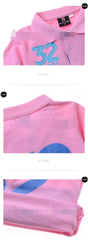 เสื้อโปโล 32 SUISSE สีชมพู (5size/pack)
