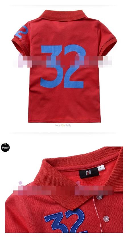 เสื้อโปโล 32 SUISSE สีแดง (5size/pack)
