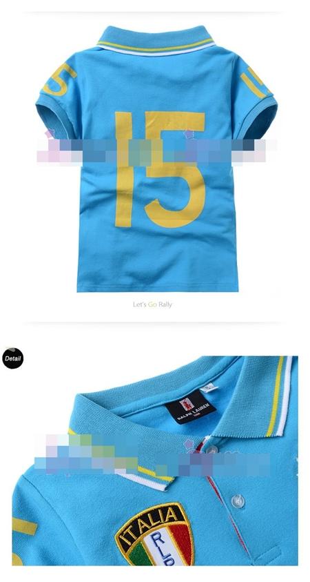 เสื้อโปโล ITALIA RLPO สีฟ้า (5size/pack)
