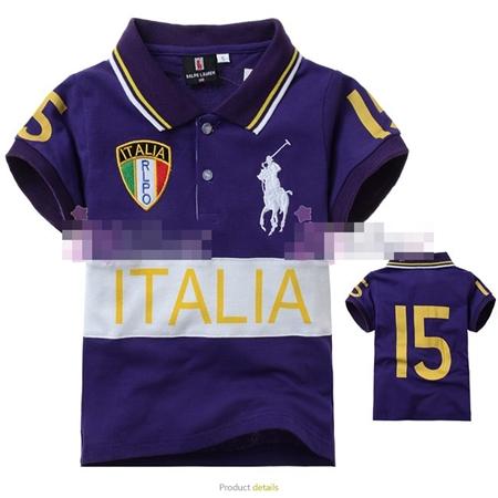 เสื้อโปโล ITALIA RLPO สีม่วง (5size/pack)