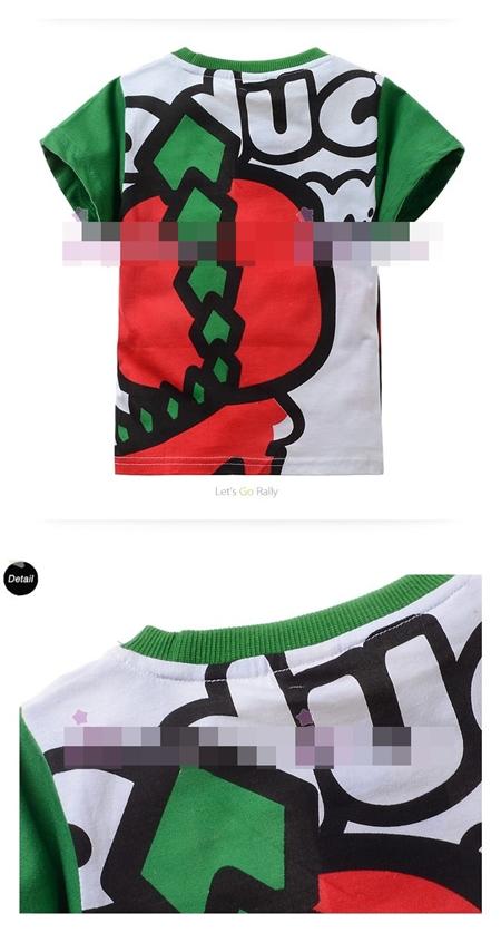 เสื้อแขนสั้ัน ไดโนเสาร์พังค์ (6size/pack)