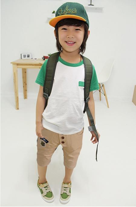 กางเกงขาสามส่วน Smile สีเบจ  (5 ตัว/pack)