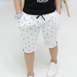 กางเกงขาสามส่วนลายสมอเรือ สีขาว (5 ตัว/pack)