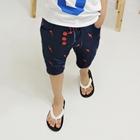 กางเกงขาสามส่วนลายสายฟ้า-สีกรมท่า-(5-ตัว/pack)