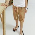 กางเกงขาสามส่วนลายสายฟ้า-สีเบจ-(5-ตัว/pack)