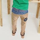 กางเกงขาสามส่วนลายอุ้งเท้า-สีเบจ-(5-ตัว/pack)