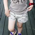 กางเกงขาสั้นลายปลาโลมา-สีเบจ-(4-ตัว/pack)