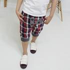 กางเกงขาสามส่วนลูกครึ่งสก๊อต-สีแดง-(5-ตัว/pack)