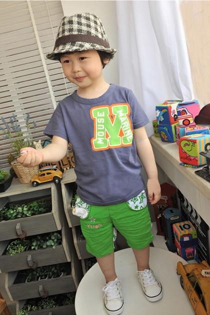 กางเกงขาสามส่วน STAR สีเขียว (5 ตัว/pack)