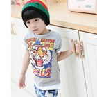 เสื้อแขนสั้น-Tiger-Circus-สีเทา-(5size/pack)
