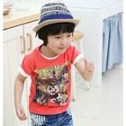 เสื้อแขนสั้น-Mickey-Comic-สีส้ม-(5size/pack)