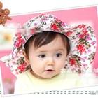 หมวกปีกบานลายดอกไม้วินเทจ-คละสี-(6ใบ/แพ็ค)