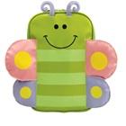กระเป๋าเป้ล้อลากผีเสื้อน้อยสีเขียว-(3-ใบ/pack)