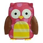 กระเป๋าเป้ล้อลากนกฮูกตาโตสีชมพู-(3-ใบ/pack)