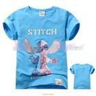 เสื้อแขนสั้น-Stitch-Robot-สีฟ้า-(5size/pack)