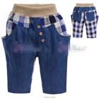 กางเกงยีนส์ขาสามส่วนลูกครึ่ง-แบบ-A-(5size/pack)