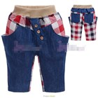 กางเกงยีนส์ขาสามส่วนลูกครึ่ง-แบบ-B-(5size/pack)