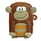กระเป๋าเป้ล้อลากลิงน้อยสีน้ำตาล-(3-ใบ/pack)