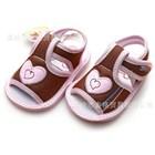 รองเท้ารัดส้นหัวใจซ่อนแอบ-สีน้ำตาล(4-คู่/แพ็ค)