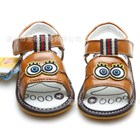 รองเท้าหนังรัดส้น-Spongbob-B-สีน้ำตาล(5-คู่/แพ็ค)