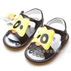 รองเท้าหนังรัดส้นน้องหมาตาดำ-สีเหลือง-(5-คู่/แพ็ค)