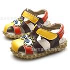 รองเท้ารัดส้น-Spongbob-ตาโต-สีน้ำตาล-(5-คู่/แพ็ค)